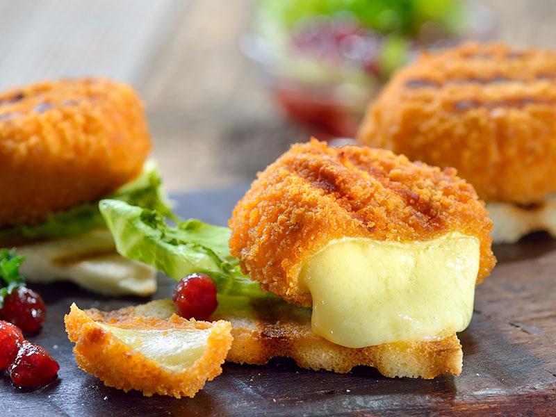 Abbildung eines gebackenen Camembert