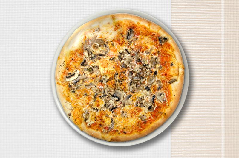 Abbildung von einer Pizza Funghi
