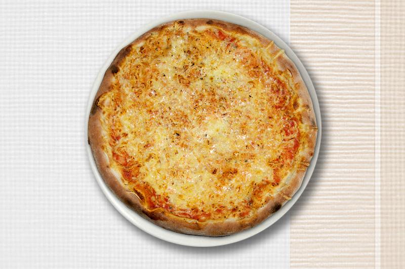 Abbildung von einer Pizza Margarita.